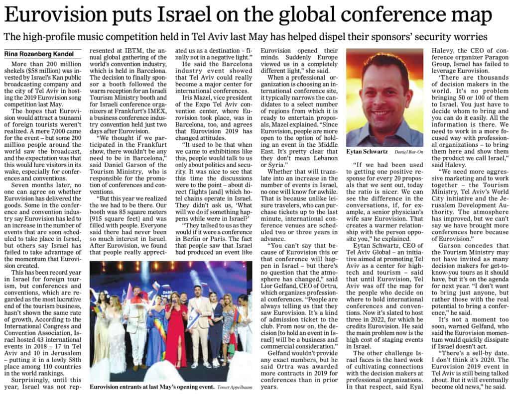 Haaretz - Eurovision impact on Israel